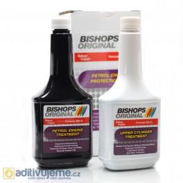 Souprava aditiv k ošetření benzínového motoru Bishops Original 460-G KIT, 2 x 354 ml